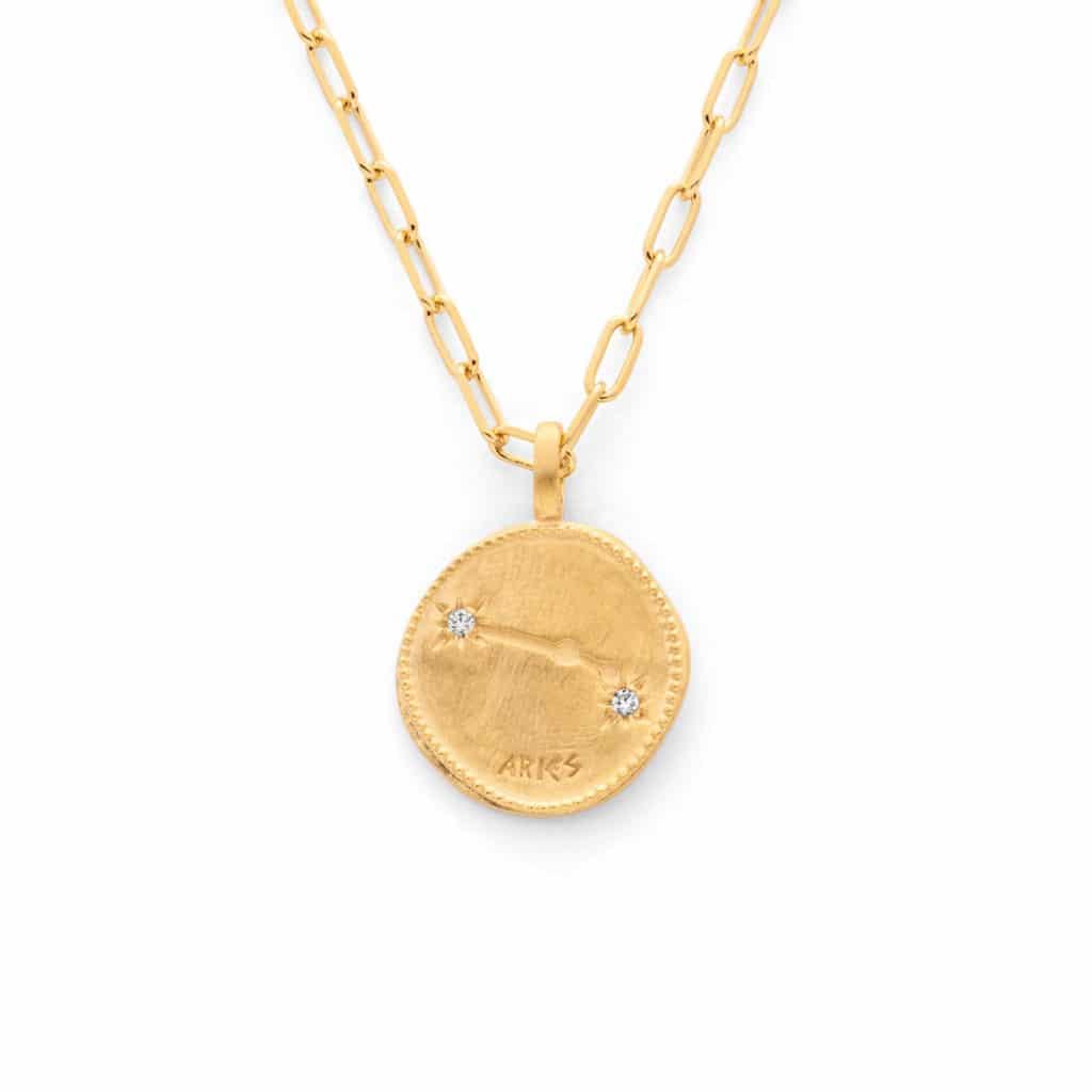 Medailles astrologiques chaine ovale - Atelier de Famille