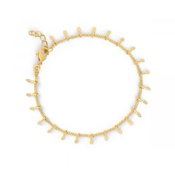 Bracelet chaîne pampilles plaqué Or