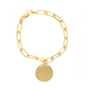 Bracelet chaîne maillon ovale à composer plaqué Or (gravure joaillier)