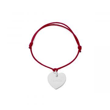 Bracelet 1 breloque Argent massif (gravure joaillier)