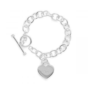 Bracelet chaîne bijou et coeur (gravure joaillier)