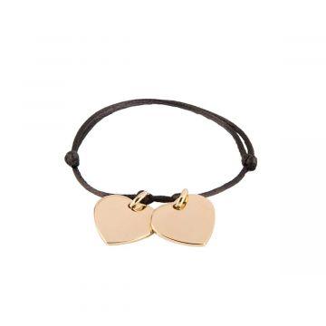 Bracelet à composer sur lien satin plaqué Or (gravure joaillier)