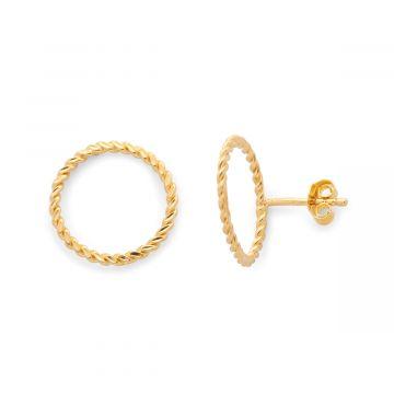 Boucles d'oreilles anneau torsadé