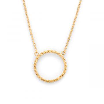Collier anneau torsadé