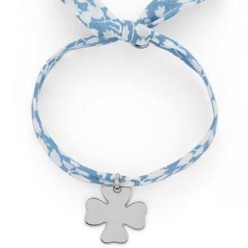 Bracelet 1 breloque sur Liberty Argent massif (gravure joaillier)