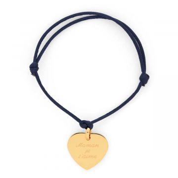 """Bracelet 1 coeur """"Maman je t'aime"""" (gravure joaillier)"""