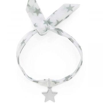 Bracelet 1 mini breloque sur lien liberty Argent massif (gravure manuelle)
