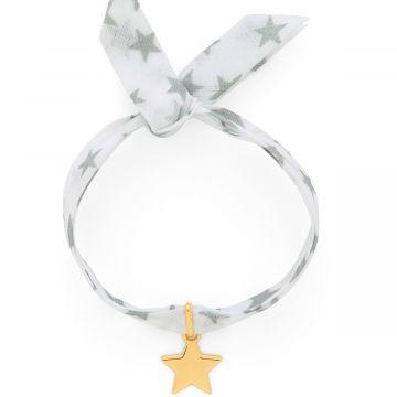 Bracelet 1 mini breloque sur lien liberty plaqué Or (gravure manuelle)