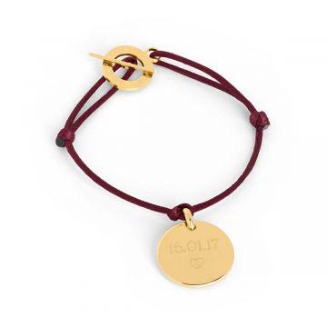 Bracelet 1 breloque plaqué Or (gravure joaillier)