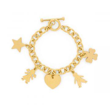 Bracelet chaîne bijou à composer plaqué Or (gravure joaillier)