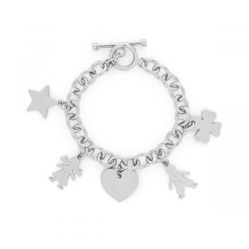Bracelet chaîne bijou à composer Argent massif (gravure manuelle)