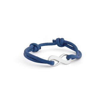 Bracelet infini pour homme sur coton épais  gravure manuelle