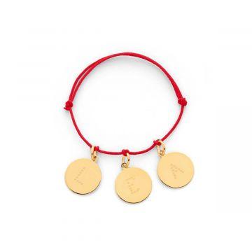 Bracelet petite médaille lettre étoilée