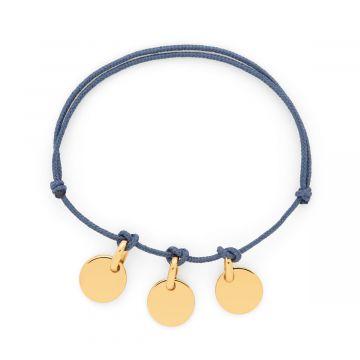 Bracelet mini breloques à composer plaqué Or (gravure manuelle)