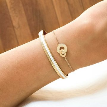 Duo bracelets jonc galon et perles et duo de cible