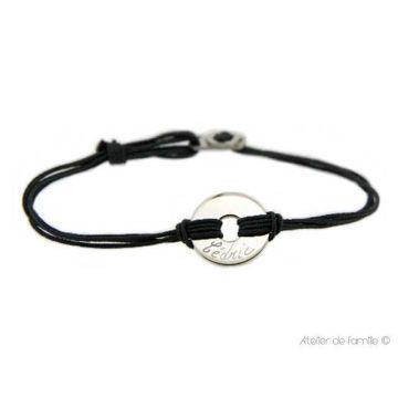 Bracelet petite cible pour homme et fermoir (gravure manuelle)