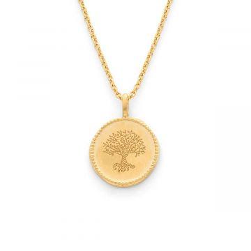 Collier médaille Arbre de vie perlée