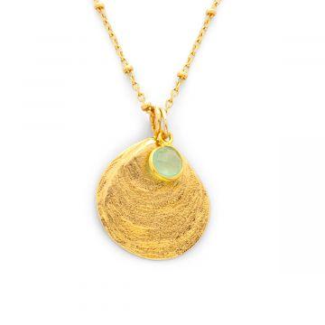 Collier Océan et pierre sur chaîne perlée