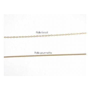 Médaille 14 mm Or 18 Carats, chaîne Or 18 carats en option