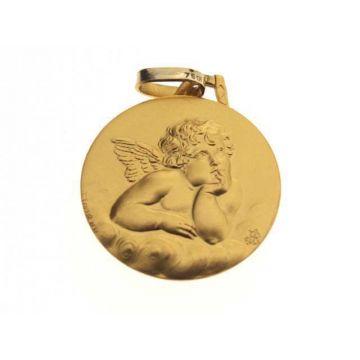 Médaille Ange de Raphaël Or 18 carats, chaîne Or 18 carats en option