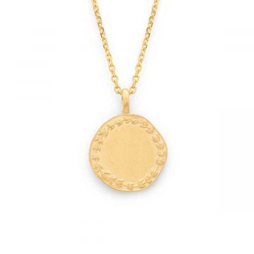 Collier médaille Laurier sur chaîne maille forçat