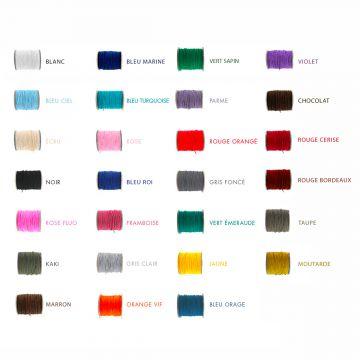 Remontage d'un bijou sur lien coton fin, coton ciré simple, nylon ou satin