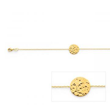 Bracelet Rond martelé sur chaîne