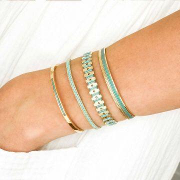 Quatuor de bracelets Vert d'eau