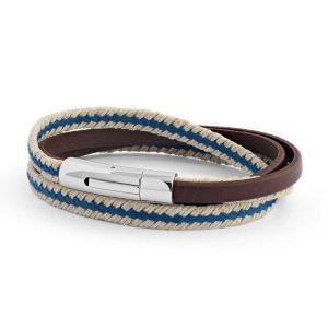 Bracelet le Nautic en cuir véritable pour homme